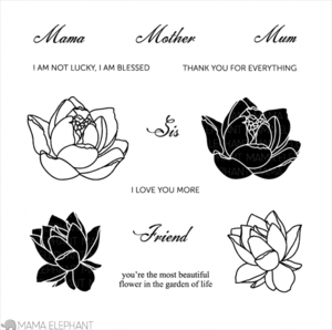 Mama Elephant Clear Stamp LOVELY MUMS Set