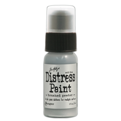 Tim Holtz Distress Paint BRUSHED PEWTER Ranger Metallic TDD36326 Preview Image
