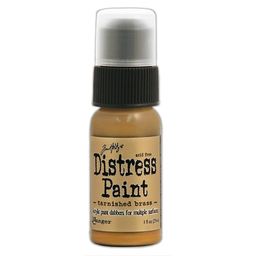 Tim Holtz Distress Paint TARNISHED BRASS Ranger Metallic TDD36487 Preview Image