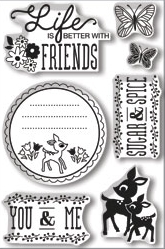 Hero Arts Clear Stamps YOU & ME BasicGrey cl685 zoom image