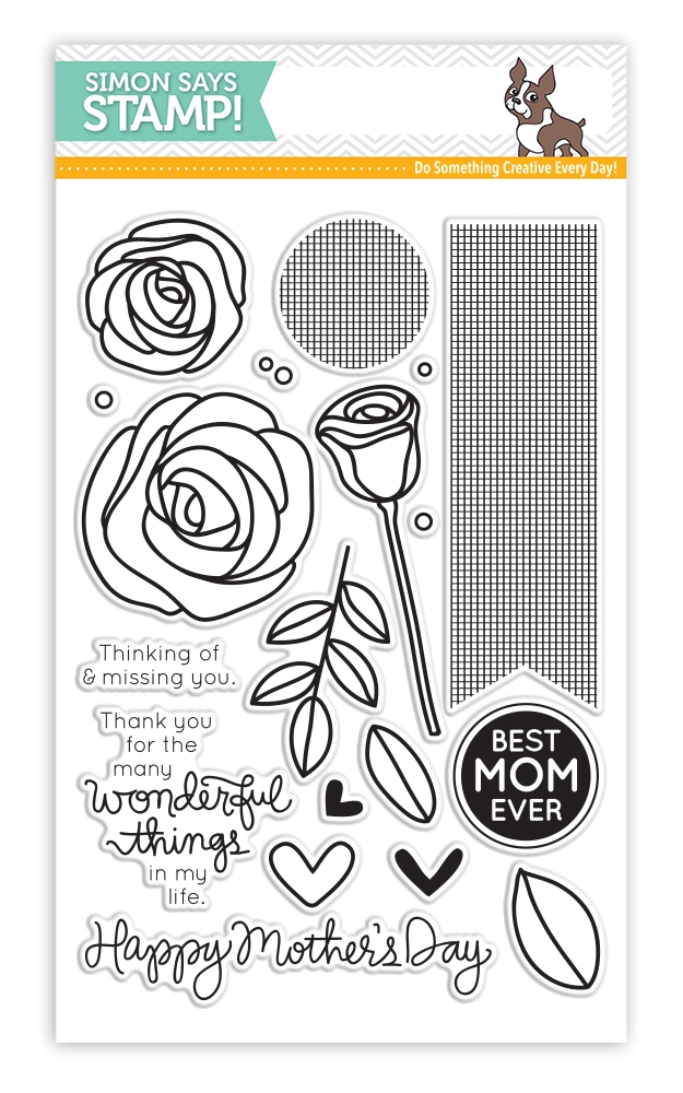 Simon Says Clear Stamps BEST MOM EVER SSS130501 Mothers Fathers Florals zoom image