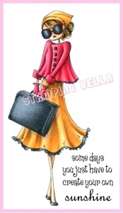 Stamping Bella Cling Stamp UPTOWN GIRL SUNNY IS STYLISH Rubber UM EB242 Preview Image