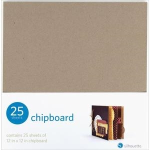Silhouette 12 x 12 CHIPBOARD 25 Sheets