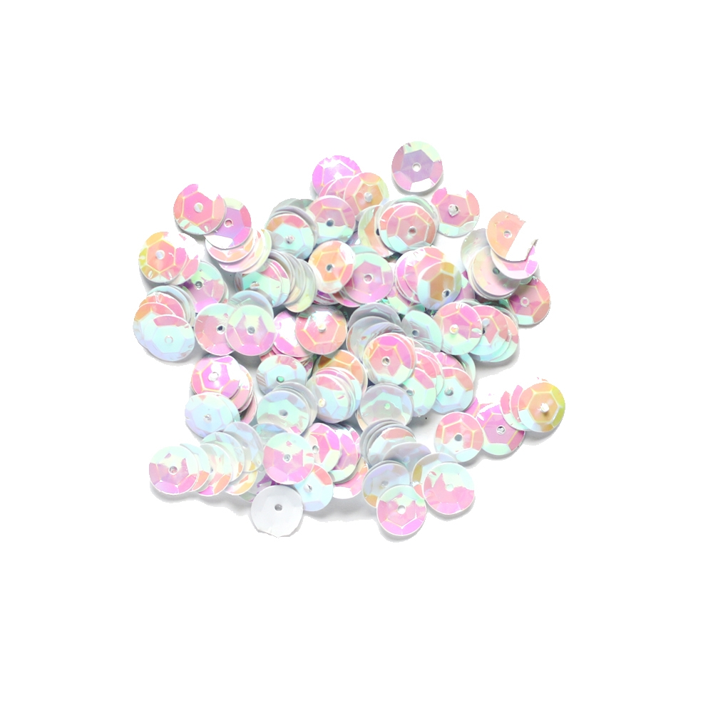 Darice 8MM IRIDESCENT WHITE Sequins 10044-17 zoom image