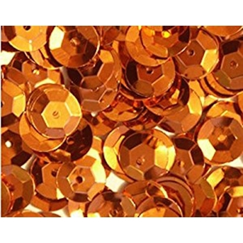 Sequins Cupped ORANGE Pack of 1000 I5SC52