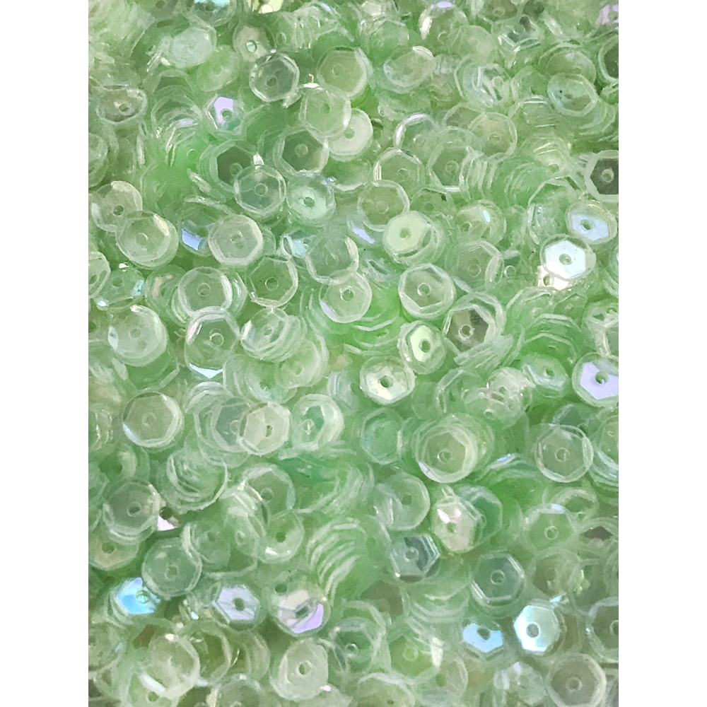 Sequins Cupped PALE LEAF GREEN 5MM Pack of 1000 I5SC15 zoom image