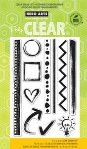 Hero Arts Clear Stamps NOTEBOOK ESSENTIALS cl696