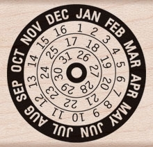 Hero Arts Rubber Stamp CALENDAR d5791