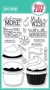 Avery Elle Clear Stamps CUPCAKES Set 020115