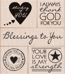 Hero Arts Rubber Stamp Set BLESSING TO YOU LP278 OWH