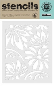 Hero Arts Stencil LARGE LOTUS PATTERN sa001
