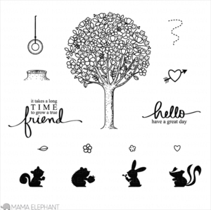Mama Elephant Clear Stamps TREE FRIENDS Preview Image