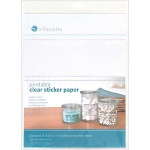 Silhouette PRINTABLE CLEAR STICKER PAPER Specialty Media zoom image