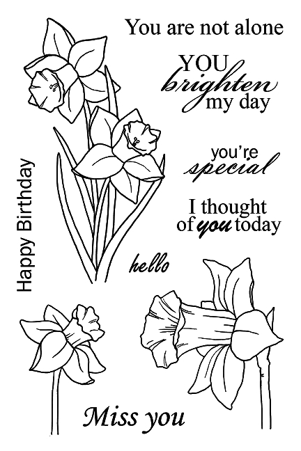 Jane's Doodles DAFFODILS Clear Stamp Set 743054 zoom image