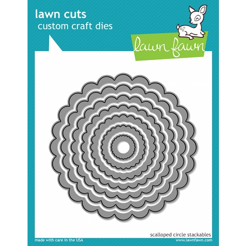 Lawn Fawn Scalloped Circle Stackables Lawn Cuts Dies