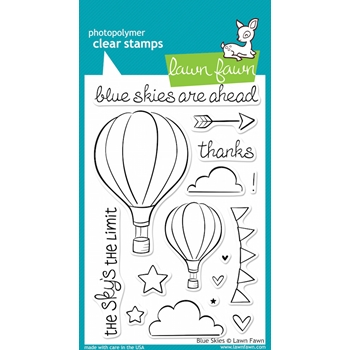 Lawn Fawn BLUE SKIES Clear Stamps LF511