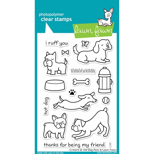 Lawn Fawn CRITTERS AT THE DOG PARK Clear Stamps LF515 Preview Image