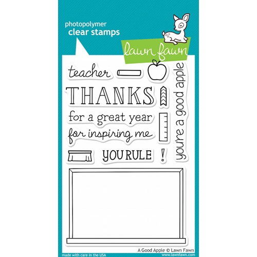 Lawn Fawn A GOOD APPLE Clear Stamps* Preview Image