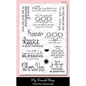 My Favorite Things CHEERFUL BLESSINGS Clear Stamps MFT zoom image