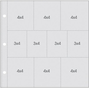 Simple Stories 4X4 & 3X4 Sn@p 12 x 12 Pocket Pages 4057 zoom image
