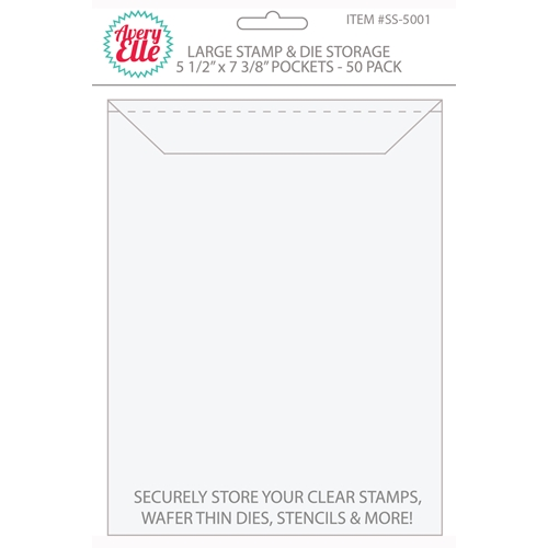 Avery Elle LARGE Stamp & Die Storage Pockets - 5-1/2 x 7-1/4 inches Set of 50 SS-5001 Preview Image