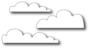 Simon Says Stamp FLAT BOTTOM CLOUDS Craft Dies s183 *
