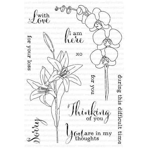 Clearly Besotted THINKING OF YOU Clear Stamp Set  Preview Image