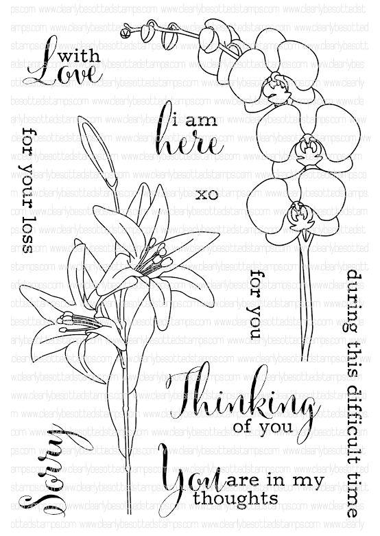 Clearly Besotted THINKING OF YOU Clear Stamp Set  zoom image
