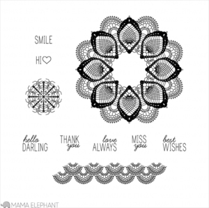Mama Elephant Clear Stamps FILIGREE Preview Image