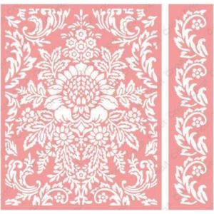 Cuttlebug A2 Embossing Folders JULIET DAMASK Provo Craft Anna Griffin*
