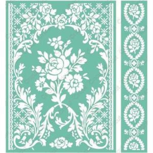 Cuttlebug 5 x 7 Embossing Folders ROSE PAVILLION Provo Craft Anna Griffin*