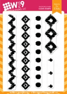 Wplus9 BACKGROUNDS AND BORDERS 1 Clear Stamps CL-WP9BB1