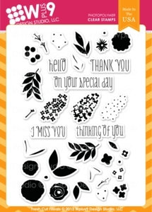 Wplus9 FRESH CUT FLORALS Clear Stamps CL-WP9FCF