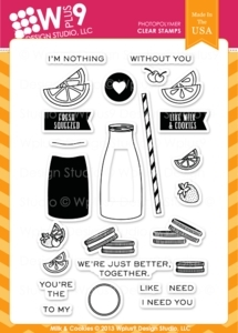 Wplus9 MILK AND COOKIES Clear Stamps CL-WP9MC Preview Image