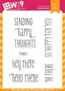 Wplus9 STRICTLY SENTIMENTS 2 Clear Stamps CL-WP9SS2
