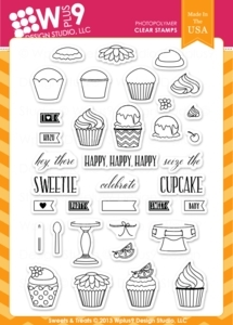Wplus9 SWEETS AND TREATS Clear Stamps CL-WP9S&T