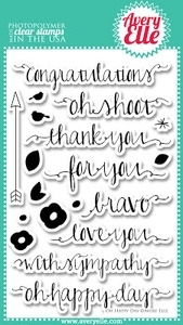 Avery Elle Clear Stamps OH HAPPY DAY Set 020559 Preview Image