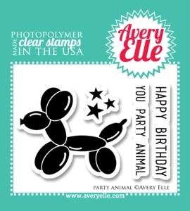 Avery Elle Clear Stamps PARTY ANIMAL Set ST-13-24