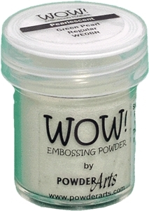 WOW Embossing Powder GREEN PEARL Regular WE08R