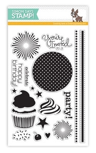 Simon Says Clear Stamps CUPCAKE PARTY sss130701 * zoom image