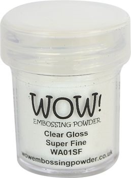 WOW Embossing Powder CLEAR GLOSS SUPER FINE WA01SF Preview Image