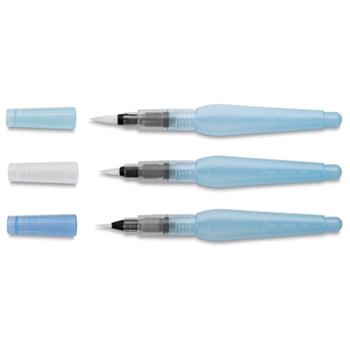 Pentel AQUASH BRUSH 3 PACK Fine Medium Bold 25104