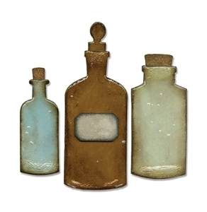 Tim Holtz Sizzix Die APOTHECARY BOTTLES Bigz 658715 Preview Image