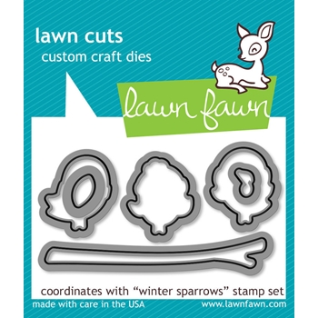 Lawn Fawn WINTER SPARROWS Lawn Cuts Dies LF573