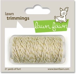 Lawn Fawn GOLD SPARKLE Single Cord Trimmings LF525 zoom image