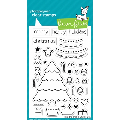 Lawn Fawn TRIM THE TREE Clear Stamps LF564 Preview Image