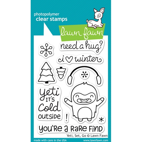 Lawn Fawn YETI SET GO Clear Stamps LF567 Preview Image