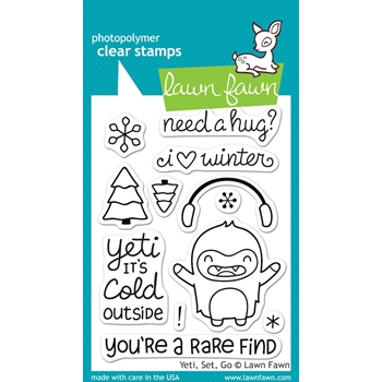 Lawn Fawn YETI SET GO Clear Stamps LF567