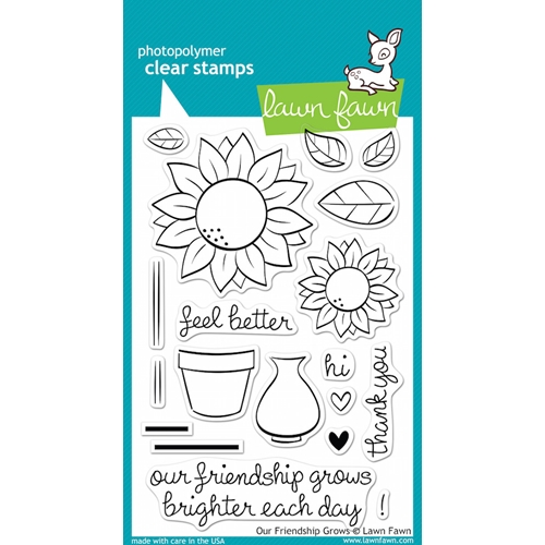 Lawn Fawn OUR FRIENDSHIP GROWS Clear Stamps LF556 Preview Image