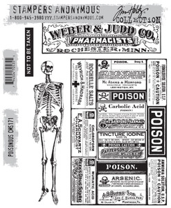 Tim Holtz Cling Rubber Stamps POISONOUS CMS171